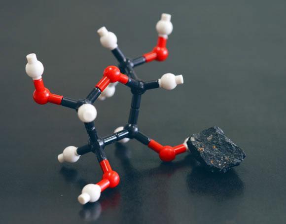 Một phân tử đường sinh học được các nhà khoa học tái hiện lại bằng mô hình.