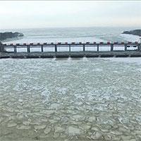 Tường băng khổng lồ ven hồ nước ngọt lớn nhất vùng Viễn Đông