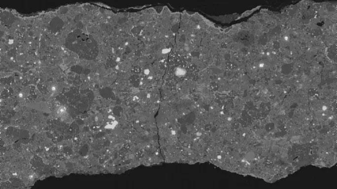 """Cận cảnh thiên thạch cổ đại mang """"hóa thạch băng"""""""