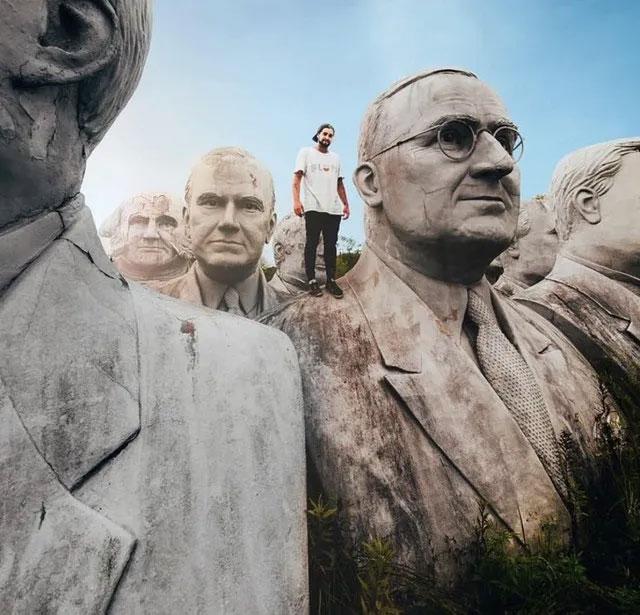 Bức tượng bán thân của các đời tổng thống Mỹ