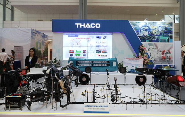 Bộ dây điện của xe ô tô KIA New Cerato tại gian hàng của Thaco.