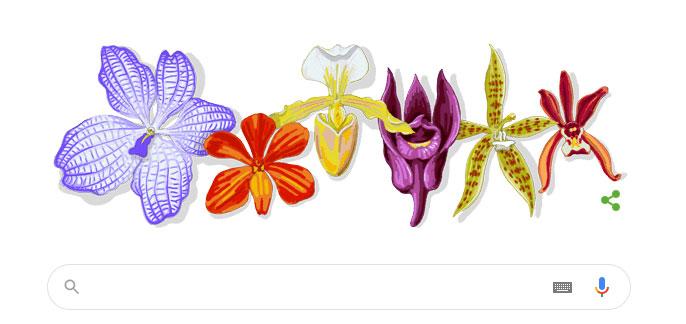 Biểu trưng của Google hôm nay kỷ niệm ngày sinh của Giáo sư Rapee Sagarik.
