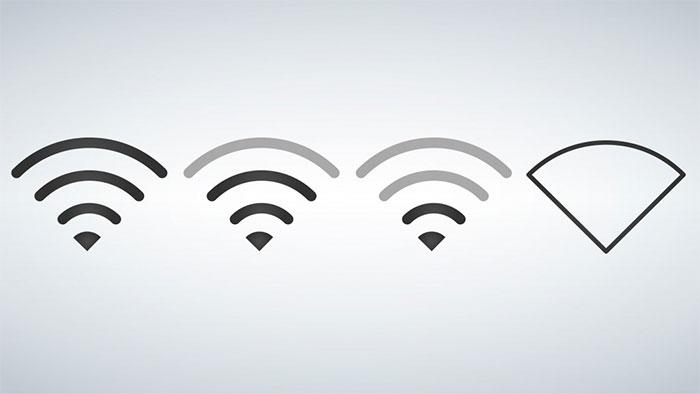 Chỉ số dBm giảm đồng nghĩa với cường độ sóng Wifi yếu đi