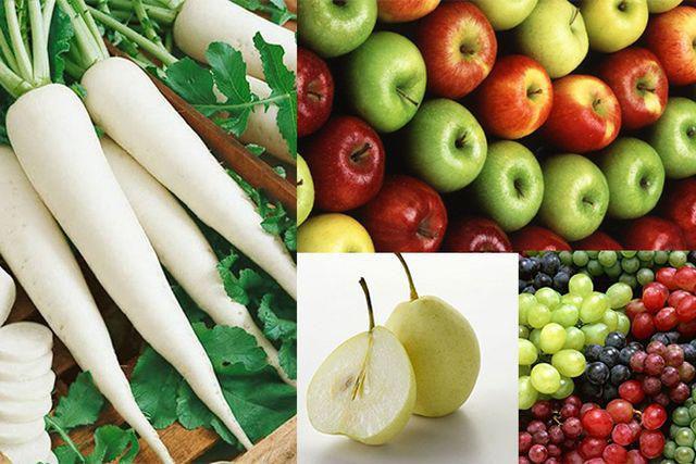 Hàm lượng cetan đồng có trong các loại trái cây này sẽ phản ứng với axit cianogen từ củ cải.