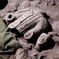 Phát hiện khu chế tác áo giáp bằng đá cho lăng mộ Tần Thủy Hoàng