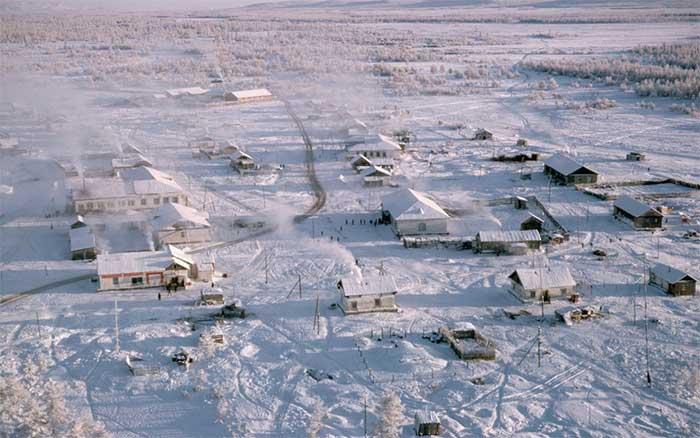 Oymyakon là nơi sinh sống lạnh nhất Trái Đất.