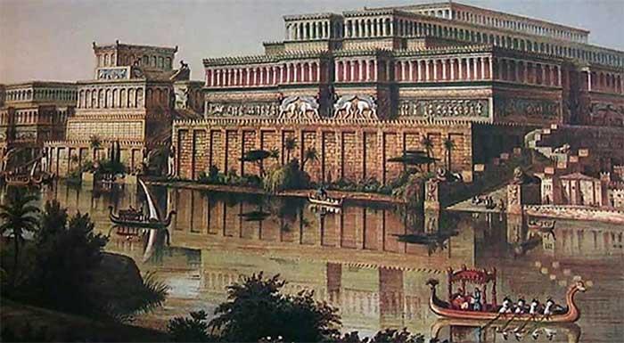 Cung điện của vua Ashurbanipal thời cổ đại.