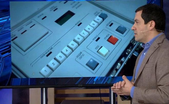 Hình ảnh bên trong chiếc vali hạt nhân tối mật của ông Putin được phát trên một kênh truyền hình Nga.