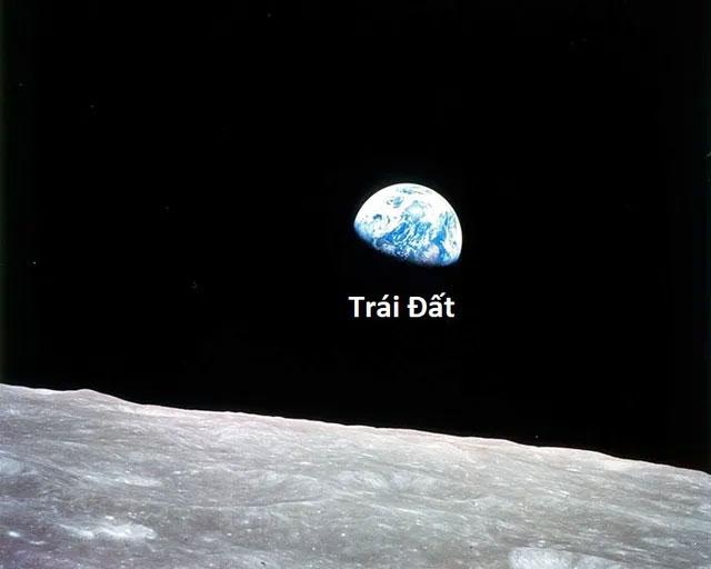 Trái Đất khi nhìn từ Mặt Trăng.