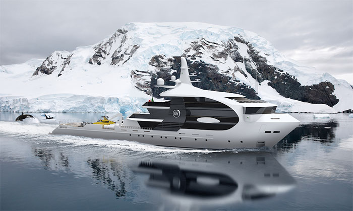 Super yachts look like killer whales