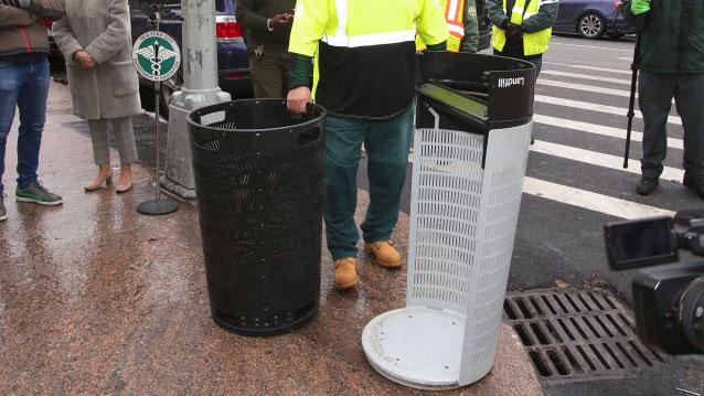 Thùng rác mới có tính thực tiễn cao hơn nhiều so với thiết kế cũ.