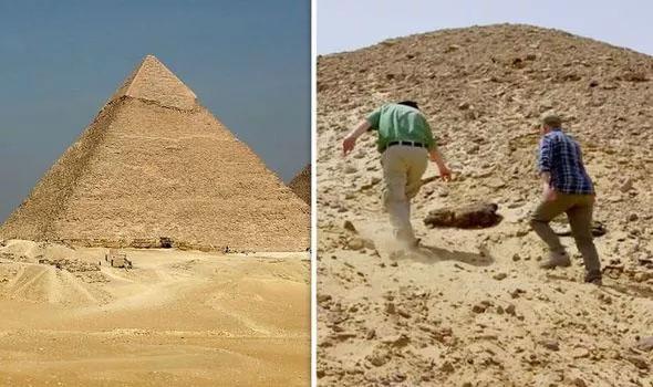 Nhà khảo cổ Đức tình cờ tìm thấy xác ướp lộ diện dưới cát.