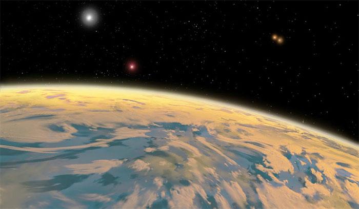 Hành tinh có 4 Mặt trời bao quanh