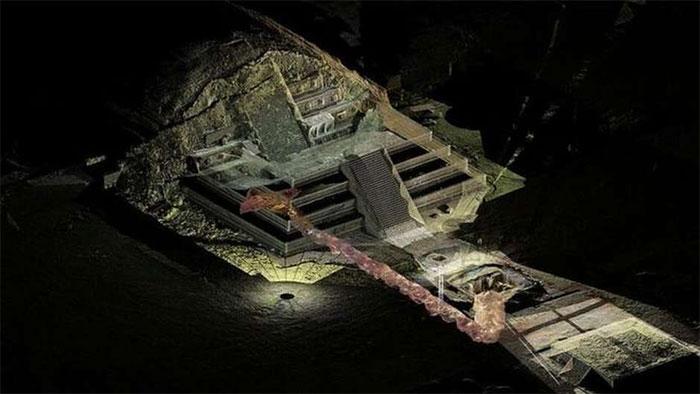 Bên trong kim tự tháp Teotihuacan