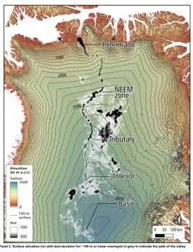 Con sông ẩn có thể nằm từ 330 feet đến 980 feet bên dưới bề mặt Greenland