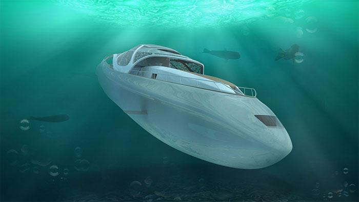 Hybrid submarines can dive 300 meters deep