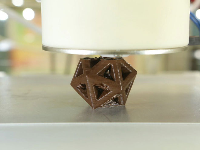 Ngày nay, chúng ta có thể in 3D cả chocolate.