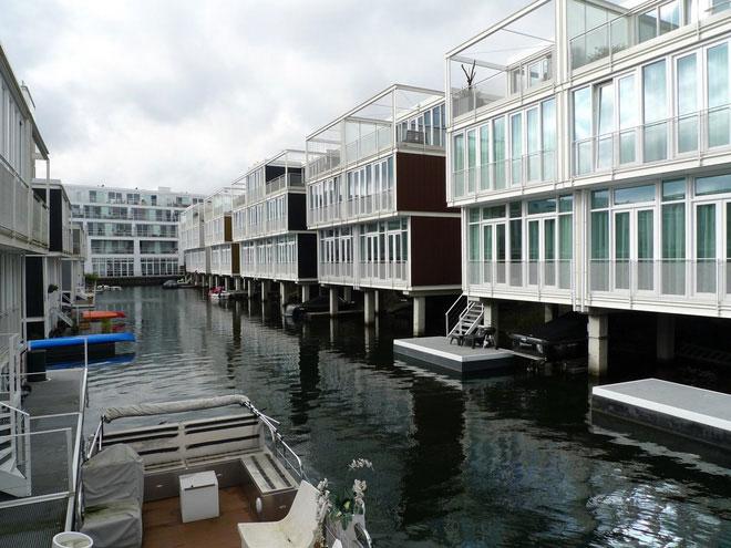 Nhà nổi ở Hà Lan.