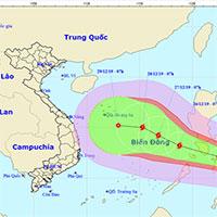 Xuất hiện cơn bão mới sắp đi vào biển Đông - cơn bão Phanfone