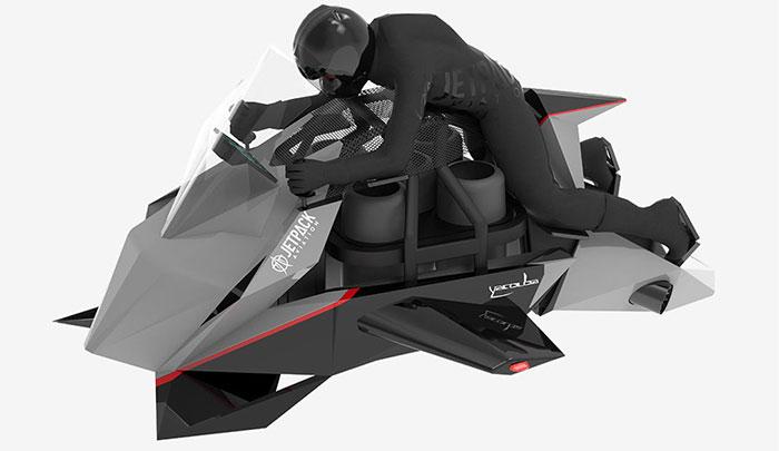 Mẫu xe Speeder - một chiếc motor bay tự ổn định, vận hành với các turbin phản lực