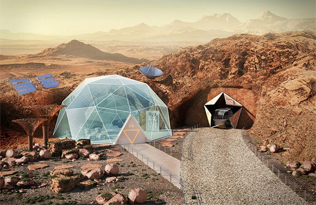 Các chuyên gia thiết kế Anh phác thảo nguyên mẫu một ngôi nhà trên sao Hỏa