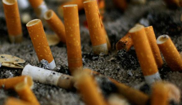 Hằng năm có đến 4,5 ngàn tỉ tàn thuốc thải bỏ khắp nơi sau khi hút -