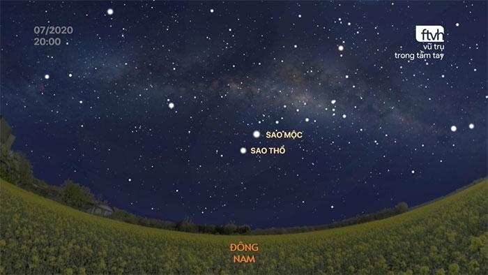 Bầu trời đêm tháng 7 năm 2020 là sàn diễn cho cả hai hành tinh lớn nhất Hệ Mặt Trời