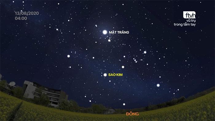 Sao Kim trên bầu trời rạng sáng 13/08/2020.