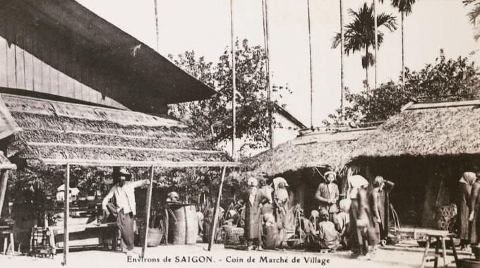Cảnh chợ làng của Sài Gòn cuối thế kỷ 19.