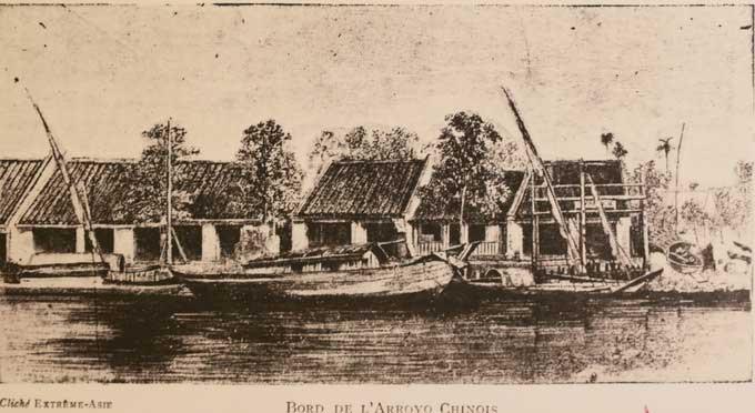 Cảnh trên bến dưới thuyền ở rạch Bến Nghé trong những năm 60 của thế kỷ 19.