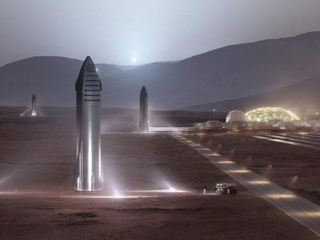 Mỗi tàu vũ trụ Starship có tải trọng 100 tấn và có thể đưa 100 người lên quỹ đạo.