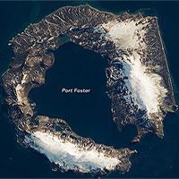 Hòn đảo hình móng ngựa do vụ phun trào 4.000 năm trước