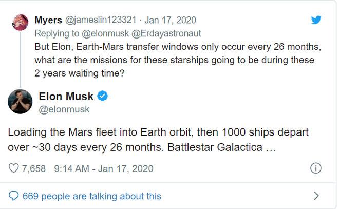 Thông báo trên twitter của Elon Musk