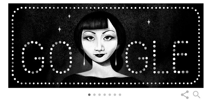 Google Doodle tôn vinh Anna May Wong.