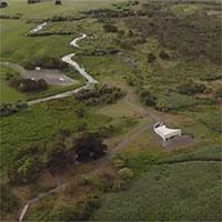Hệ thống kênh nước cổ đại phát lộ sau cháy rừng