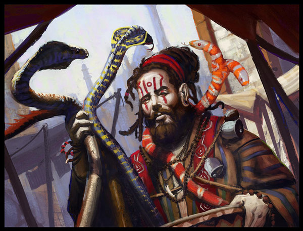 Những người điều khiển rắn thời xưa thường rất được kính nể