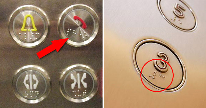 Các nút bấm trong thang máy