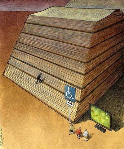 Những người muốn leo đến đỉnh cao của tri thức thường tìm đến sách