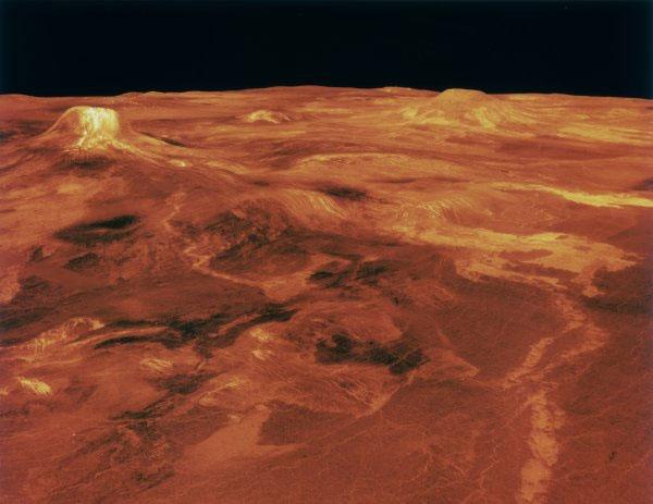 Mô phỏng máy tính bề mặt Kim tinh vào năm 1990.