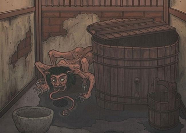 Akaname: Con quỷ chuyên dọn dẹp phòng tắm, nhà vệ sinh