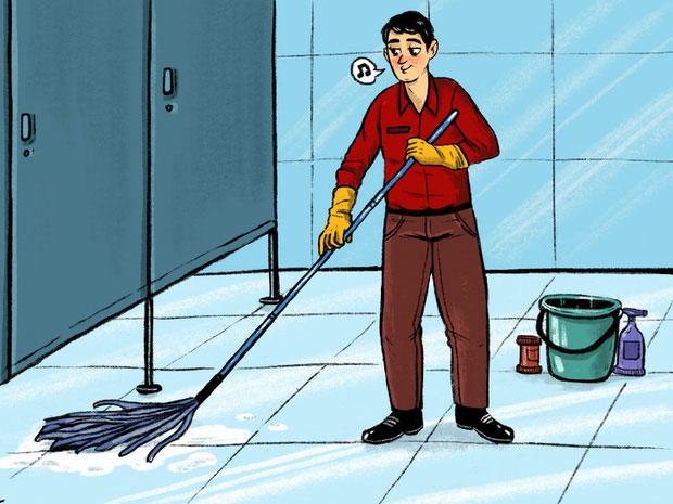 Dọn rửa toilet