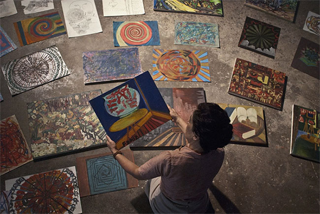 Những tác phẩm hội họa của bênh nhân tâm thần.