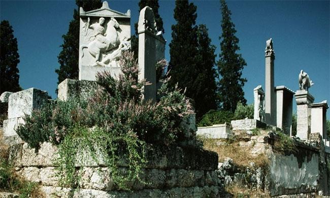 Nghĩa trang Kerameikos ở Athens.