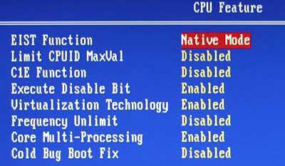 Can thiệp từ BIOS