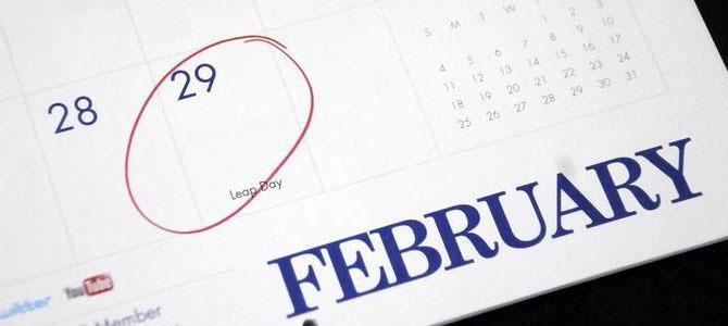 Ngày 29 tháng 2 vốn dĩ chính bản thân nó đã là một ngày đặc vì 4 năm mới có một lần