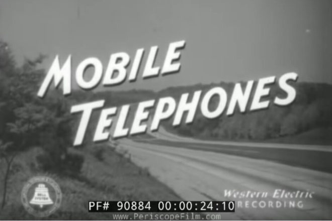 What did a cell phone 80 years ago look like?
