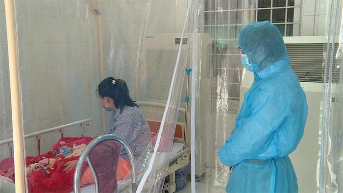 Bệnh nhân 3 tháng tuổi được điều trị tại phòng khám Đa khoa Quang Hà, huyện Bình Xuyên, tỉnh Vĩnh Phúc.