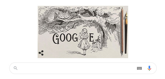 Google Doodle tôn vinh Hiệp sĩ John Tenniel.