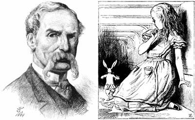 John Tenniel nổi tiếng với bộ tranh Cuộc phiêu lưu của Alice ở xứ xở thần tiên