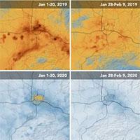 Sau khi dịch bệnh virus Covid-19 bùng phát, khí thải nhà kính tại Trung Quốc giảm đáng kể